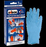 Перчатки защитные нитриловые Unibob (5 пар)
