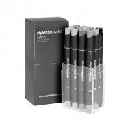 """Набор маркеров Stylefile Classic """"Нейтральный серый"""" 12 шт"""
